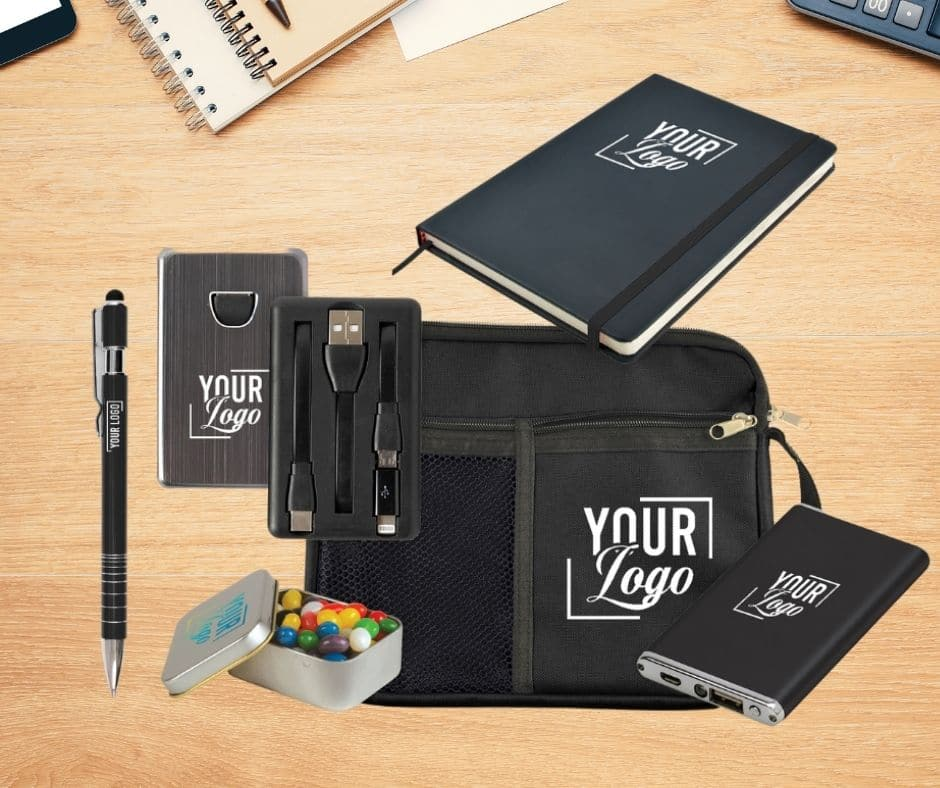Personalise branded merchandise for that extra touch